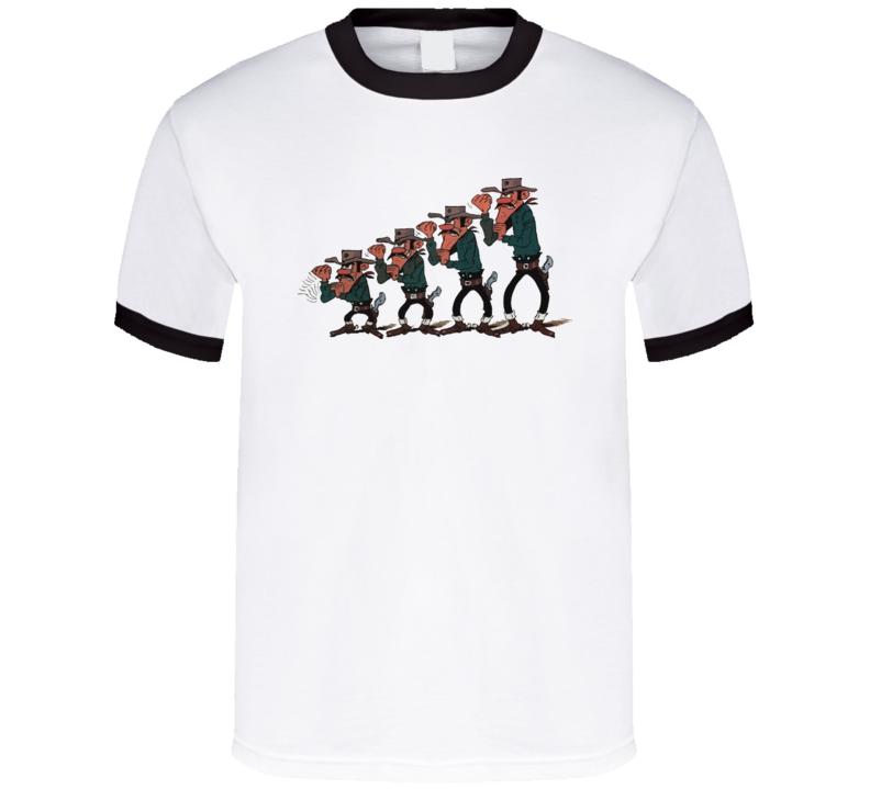 Lucky Luke/Daltons Ringer T Shirt