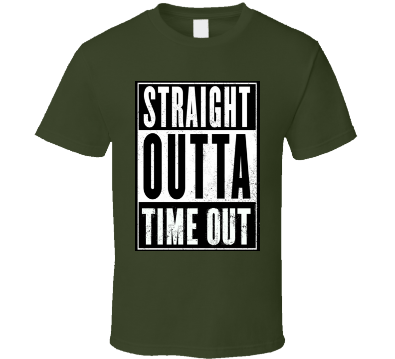 Straight outta time out toddler tees terrible twos children funny kids t-shirt