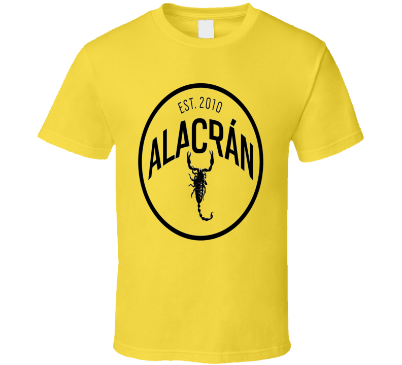 Alacran Premium luxury tequila Scorpion bite Mexican tequila logo t-shirt