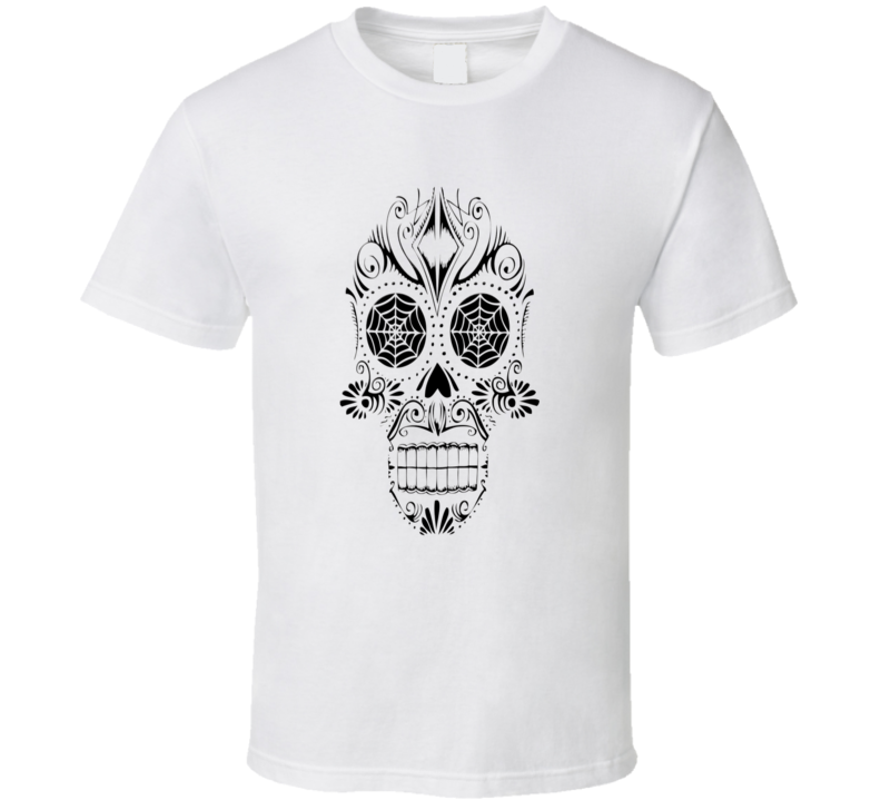 Mexican Day of the Dead style Tequila sugar mask effect trending t-shirt