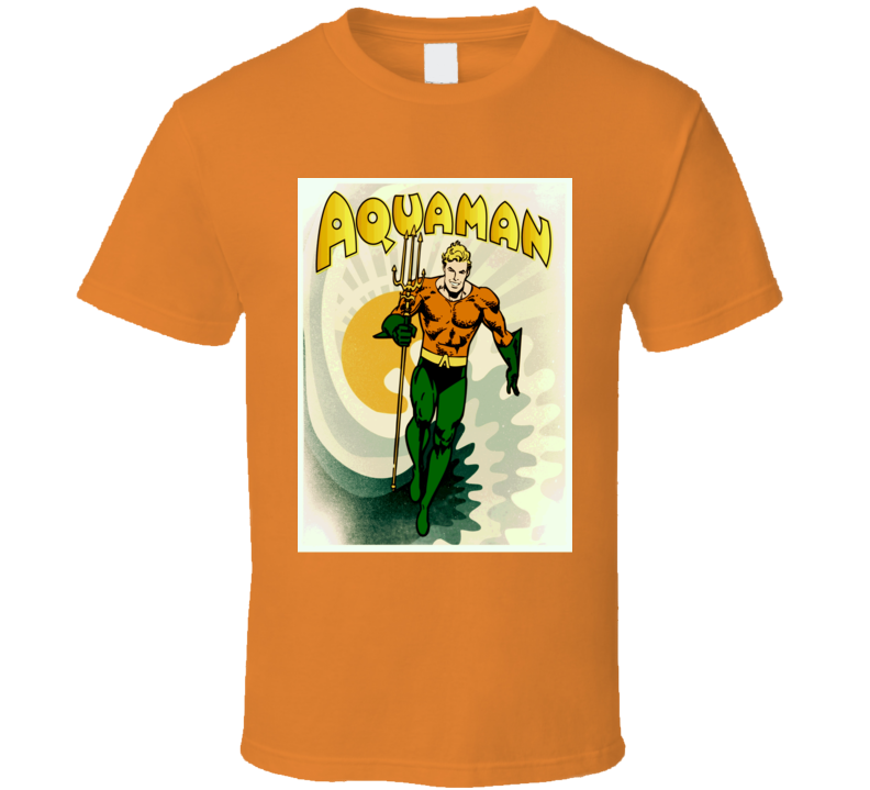 Aquaman retro comic book cover style hero justice league t-shirt