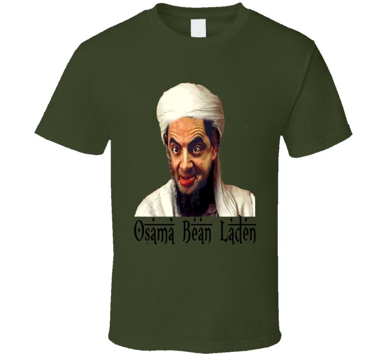 Osama Bean Laden Mr. Bean Rowan Atkinson funny mock up trending spoof t-shirt