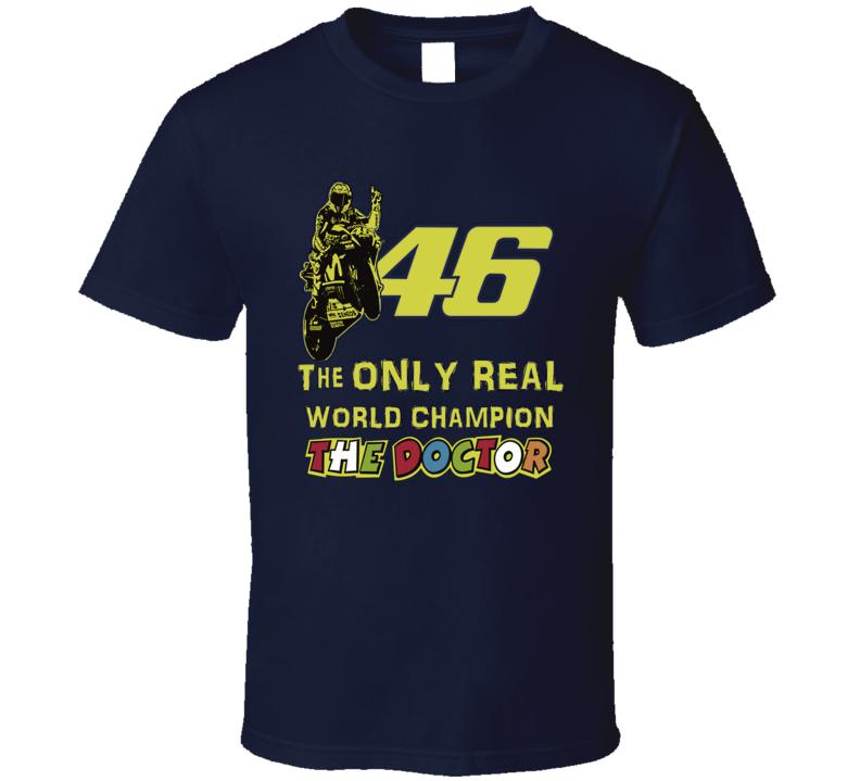 Valentino Rossi Moto GP super bike racing real worl champion italian racing fan t-shirt
