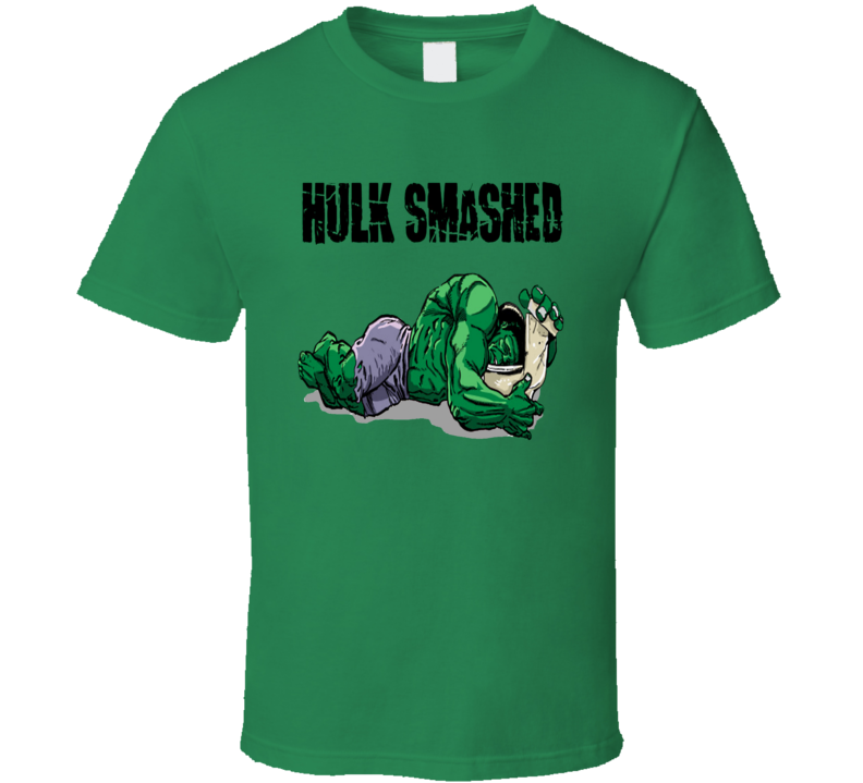 The Hulk Hulk Smashed funny hulk hangover comics fan t-shirt