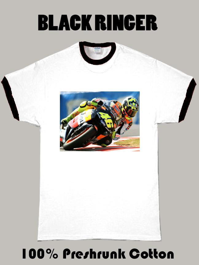 Valentino Rossi Black Ringer T Shirt