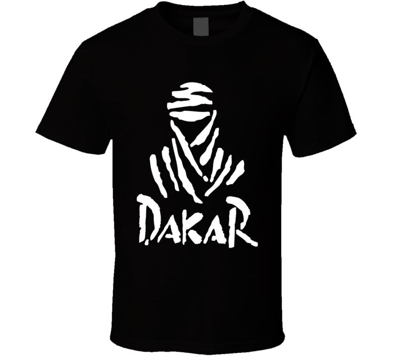 Dakar racing logo retro desert race dune buggy, off road racing classic fan t-shirt white