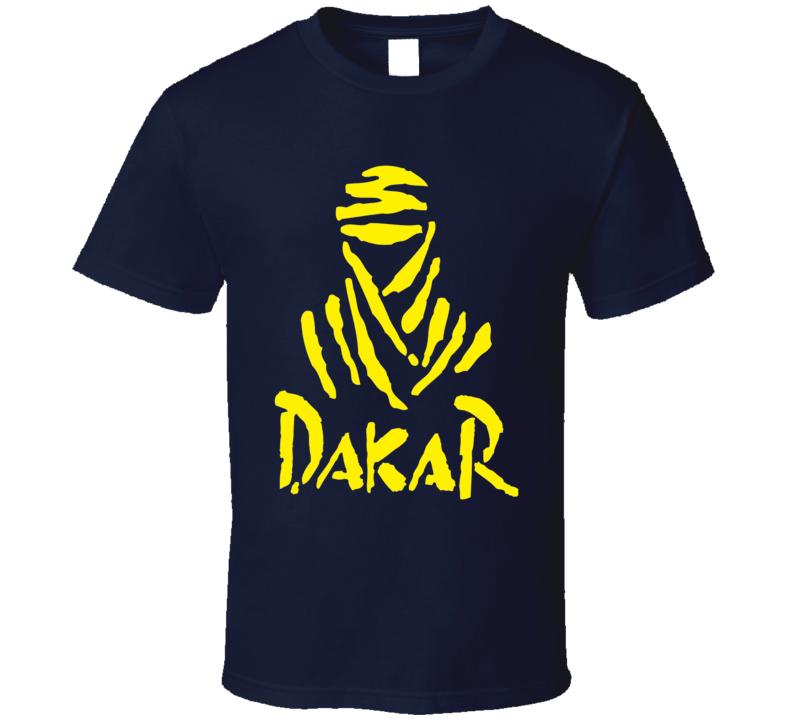 Dakar racing logo retro desert race dune buggy, off road racing classic fan t-shirt Yellow