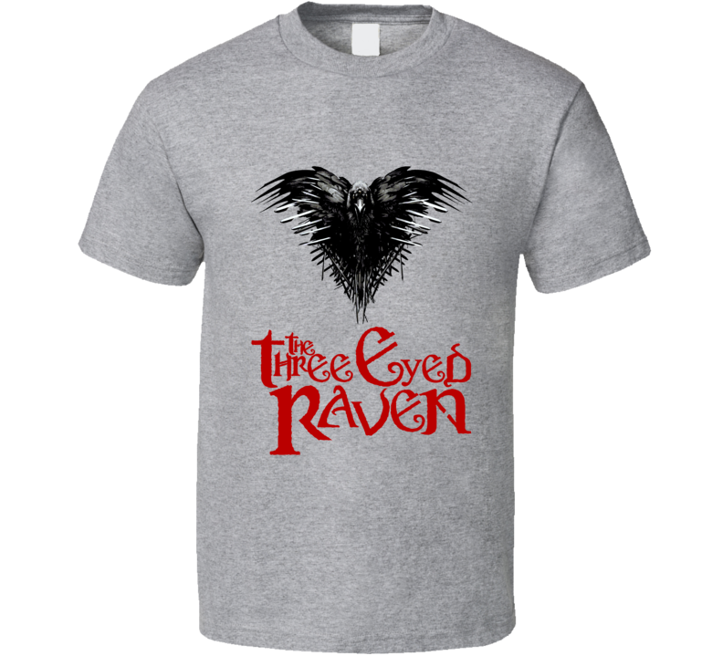 Game of Thrones 3 eyed raven distressed raven with distressed battle worn swords GoT fan t-shirt