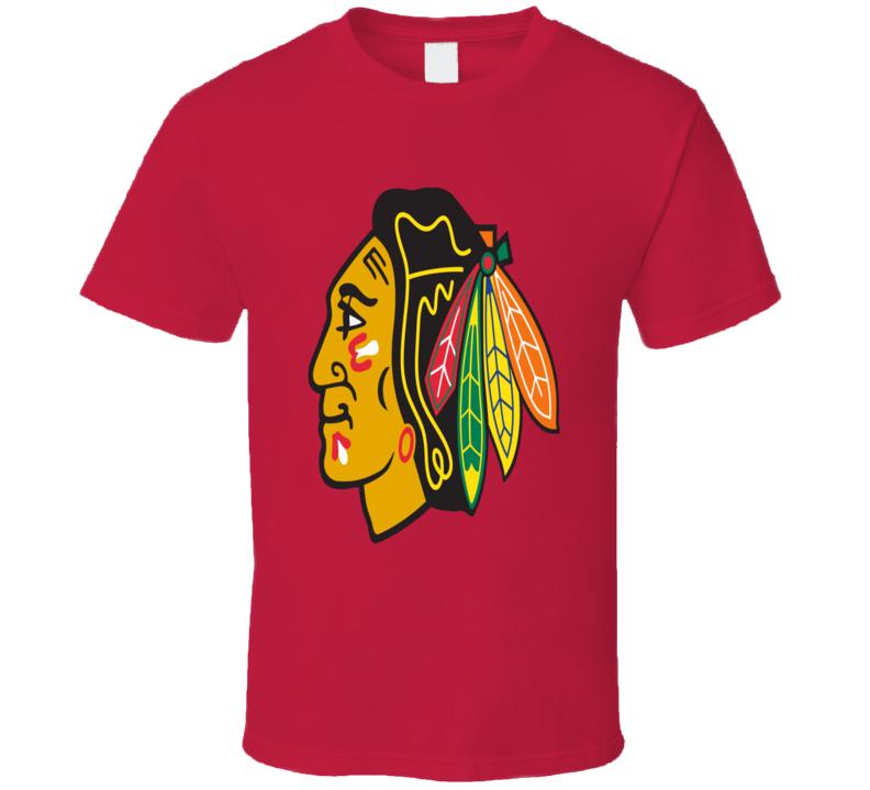 Chicago Blackhawks Pro Hockey Team logo the Hawks fan t-shirt