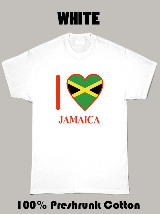I Love Jamaica Olympics Country T Shirt