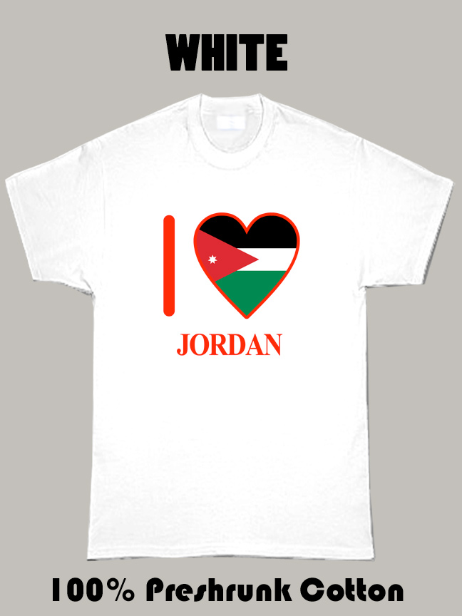 I Love Jordan Olympics Country T Shirt