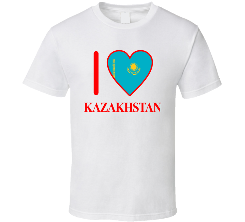 I Love Kazakhstan Olympics Country T Shirt