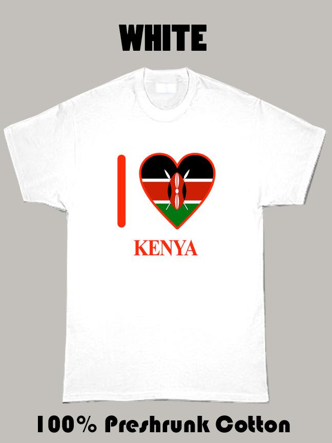 I Love Kenya Olympics Country T Shirt