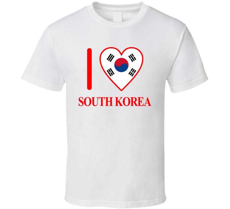I Love South Korea Olympics Country T Shirt