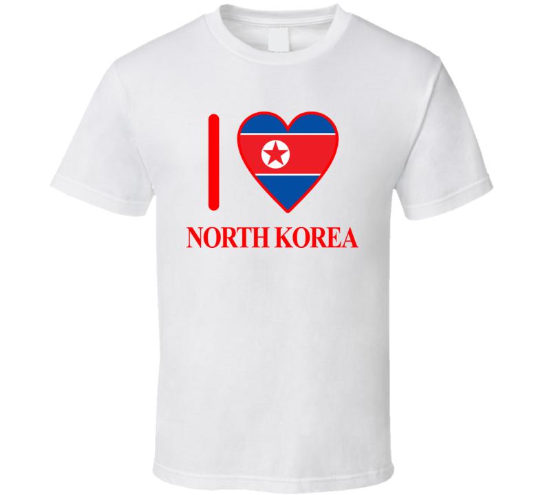I Love North Korea Olympics Country T Shirt