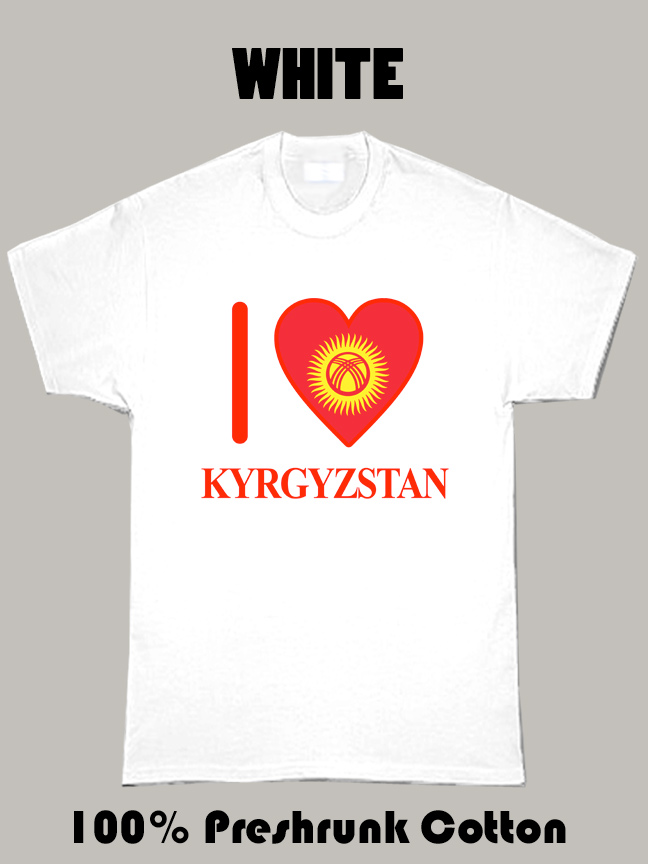 I Love Kyrgyzstan Olympics Country T Shirt
