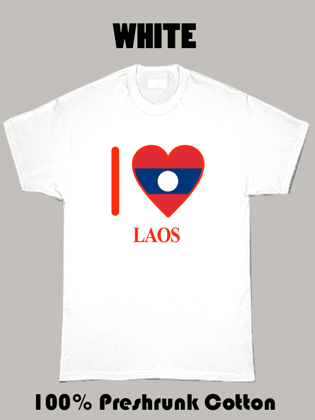 I Love Laos Olympics Country T Shirt