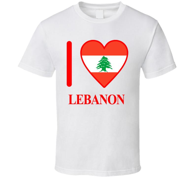 I Love Lebanon Olympics Country T Shirt