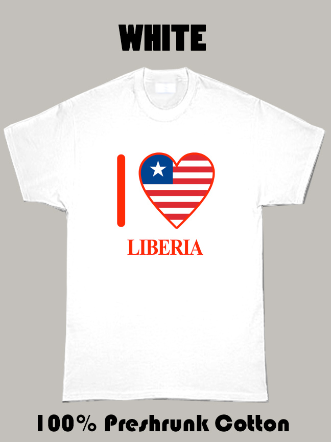 I Love Liberia Olympics Country T Shirt