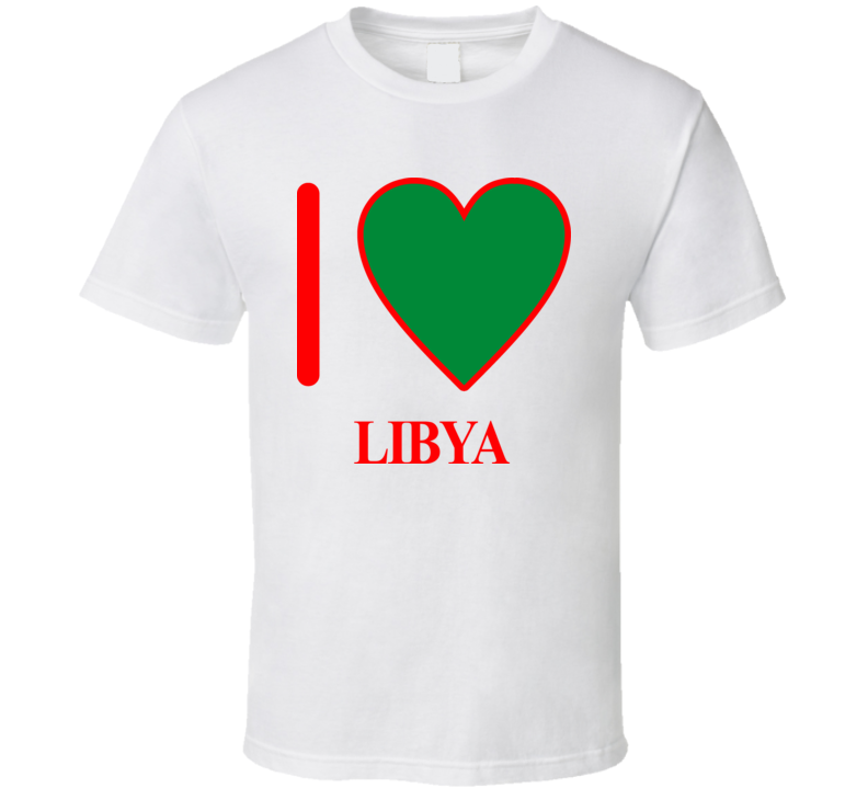 I Love Libya Olympics Country T Shirt