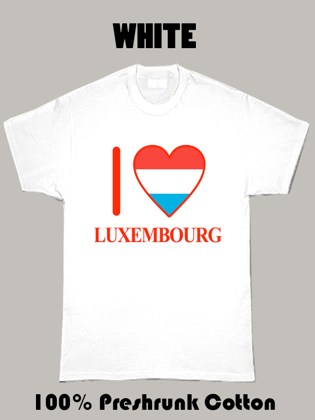 I Love Luxembourg Olympics Country T Shirt