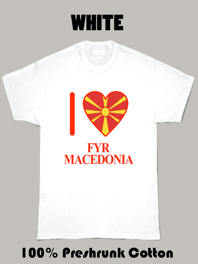 I Love Fyr Macedonia Olympics Country T Shirt