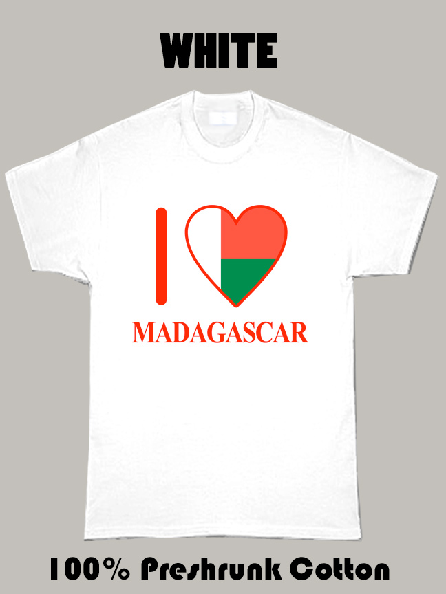 I Love Madagascar Olympics Country T Shirt
