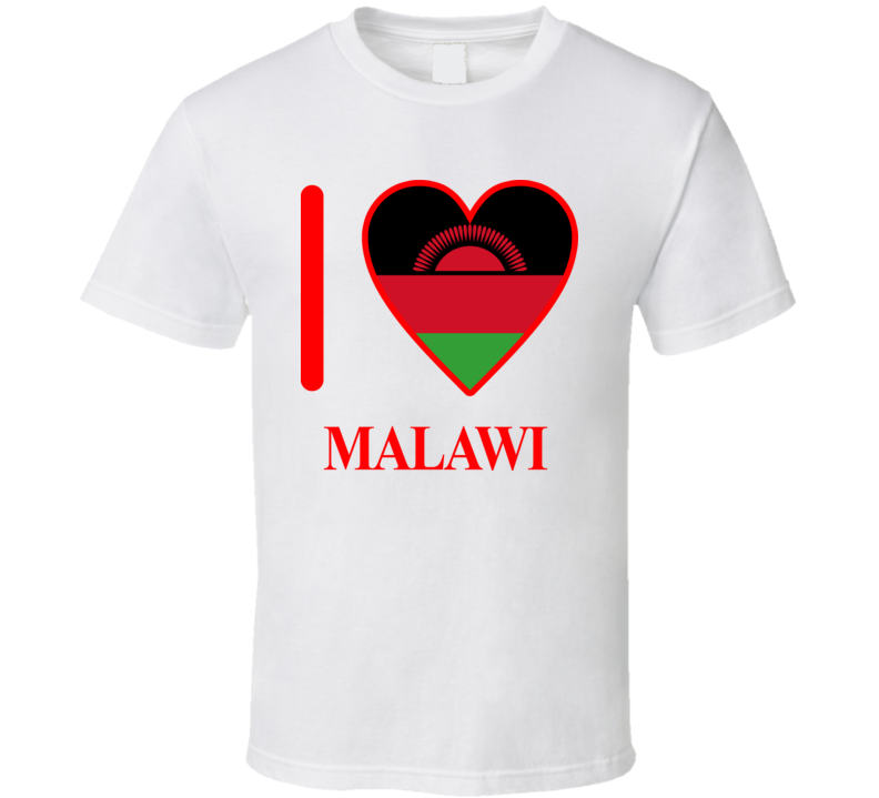 I Love Malawi Olympics Country T Shirt