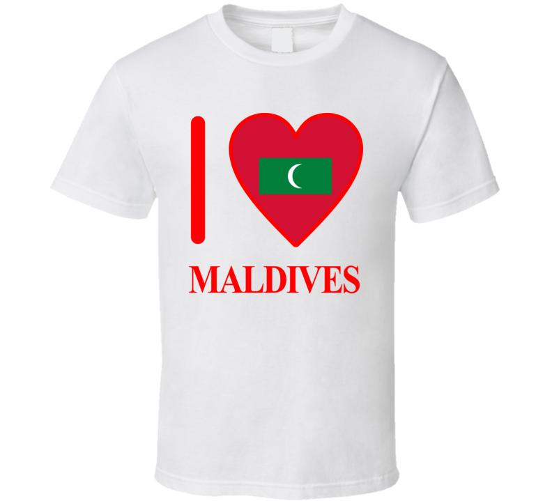 I Love Maldives Olympics Country T Shirt