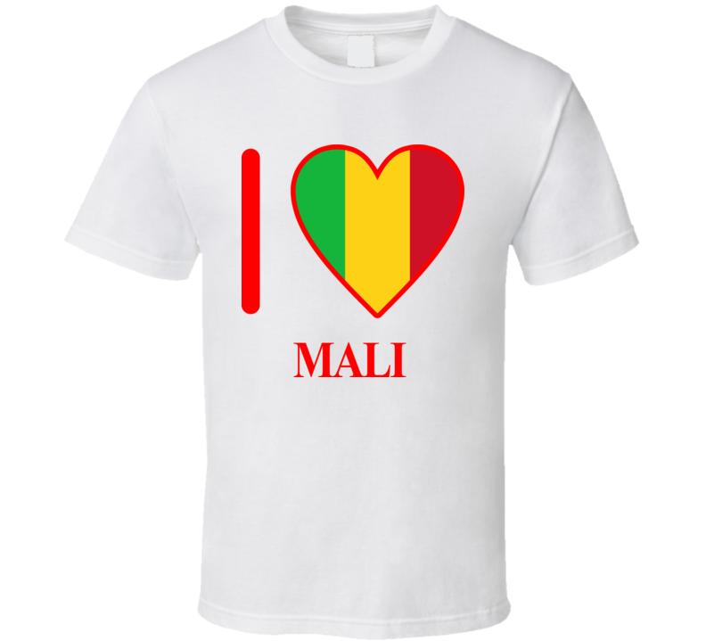 I Love Mali Olympics Country T Shirt