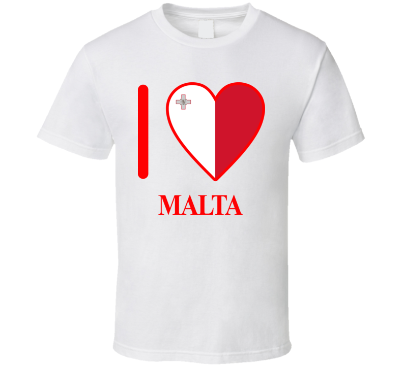 I Love Malta Olympics Country T Shirt