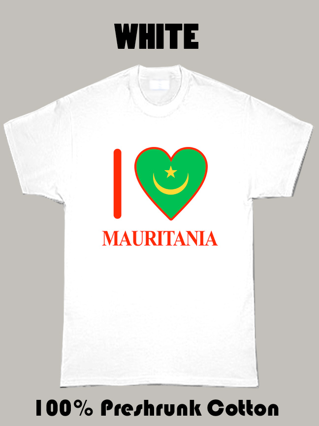 I Love Mauritania Olympics Country T Shirt