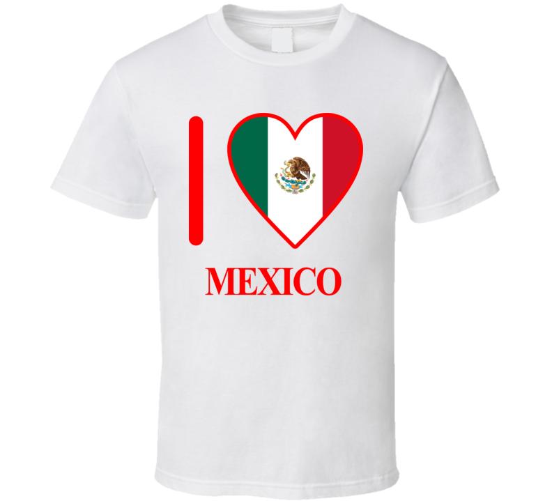 I Love Mexico Olympics Country T Shirt