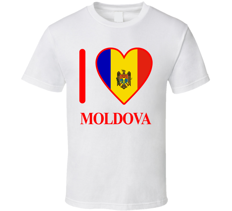 I Love Moldova Olympics Country T Shirt