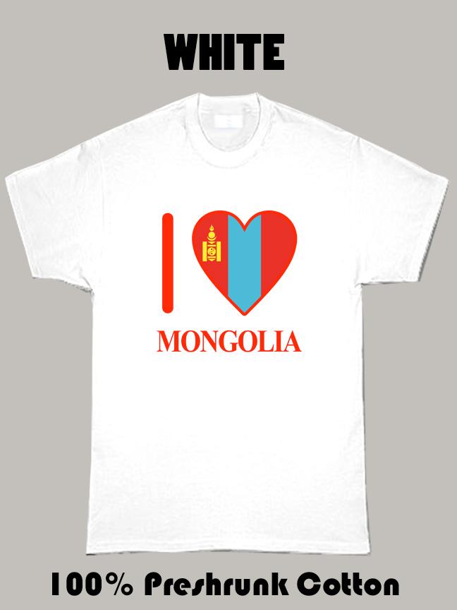 I Love Mongolia Olympics Country T Shirt