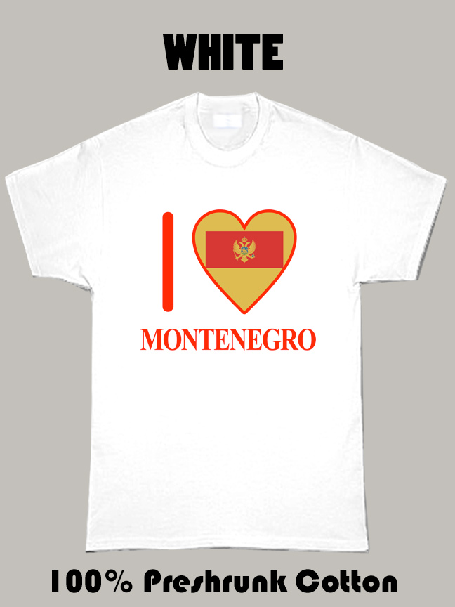 I Love Montenegro Olympics Country T Shirt