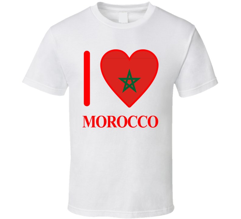 I Love Morocco Olympics Country T Shirt