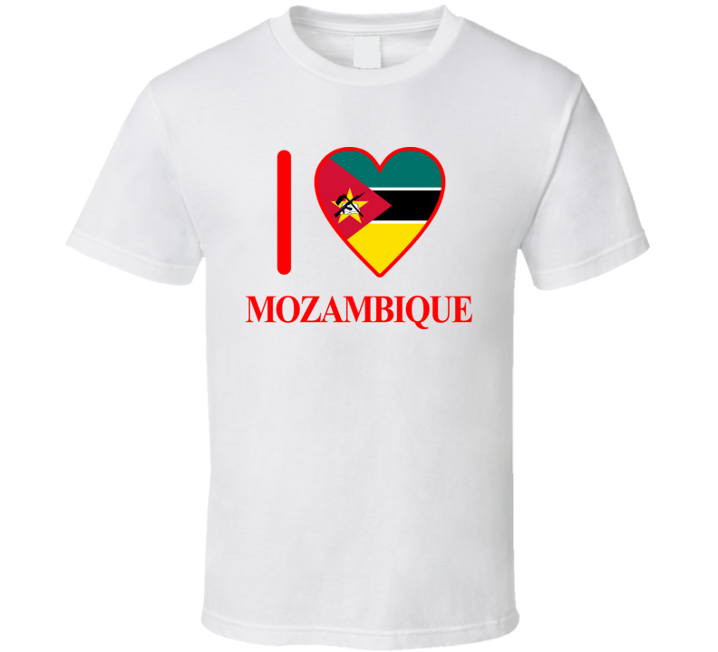 I Love Mozambique Olympics Country T Shirt