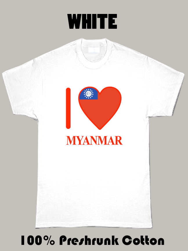 I Love Myanmar Olympics Country T Shirt