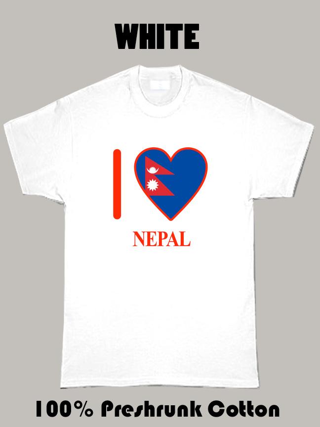 I Love Nepal Olympics Country T Shirt