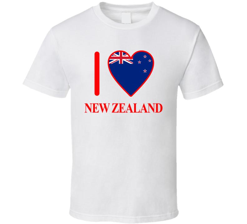 I Love New Zealand Olympics Country T Shirt