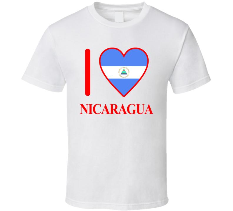 I Love Nicaragua Olympics Country T Shirt