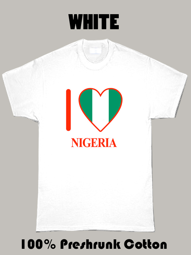 I Love Nigeria Olympics Country T Shirt