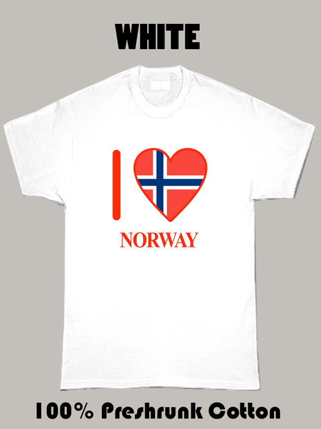 I Love Norway Olympics Country T Shirt