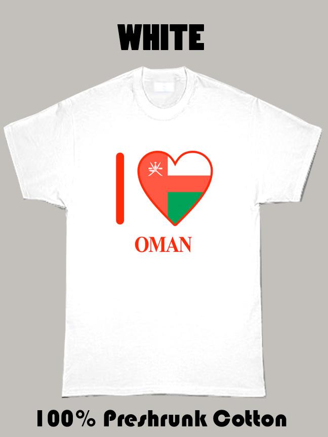 I Love Oman Olympics Country T Shirt