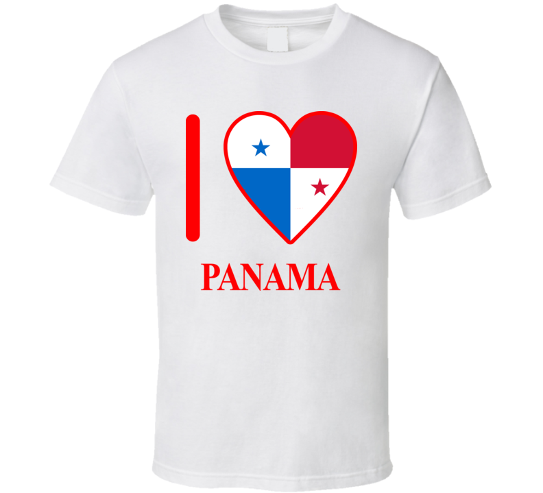 I Love Panama Olympics Country T Shirt
