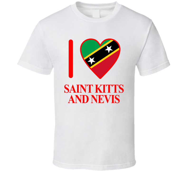 I Love Saint Kitts And Nevis Olympics Country T Shirt