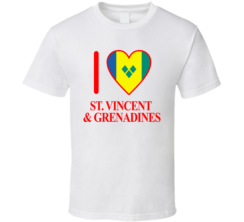 I Love St. Vincent & Grenadines Olympics Country T Shirt