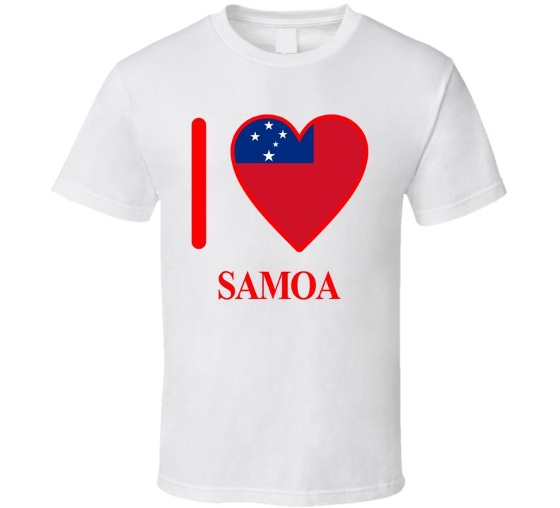 I Love Samoa Olympics Country T Shirt
