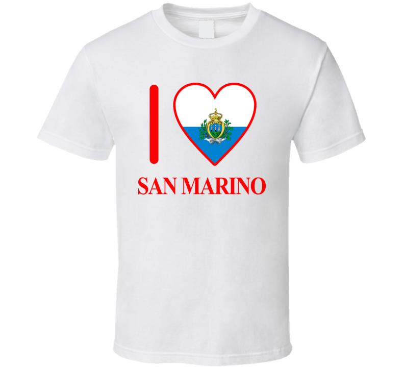 I Love San Marino Olympics Country T Shirt
